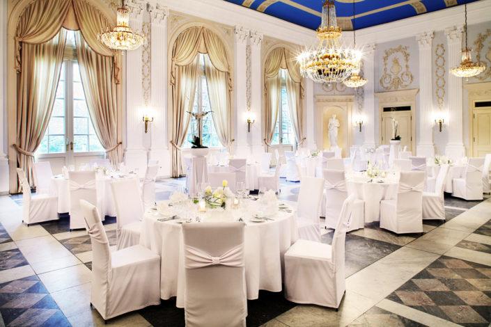 Die La Redoute stellt ihnen den Beethovensaal vor. Der Beethovensaal diente schon als Empfang für zum Beispiel Staatsoberhäupter wie Lady Diana und dieser wird heutzutage gerne für Hochzeiten genutzt.