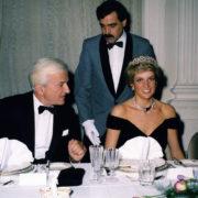 Richard von Weizsäcker begrüßte in der La Redoute in Bonn Bad Godesberg, Prinzessin Lady Di.